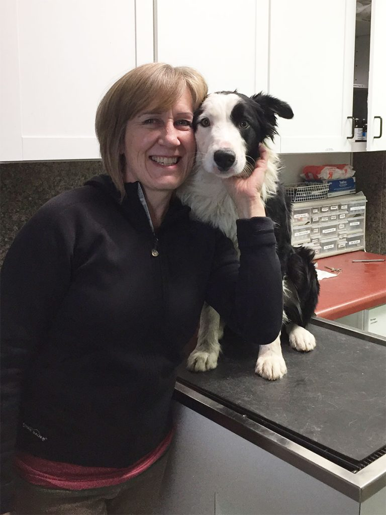 Dr Noll with her dog Louie